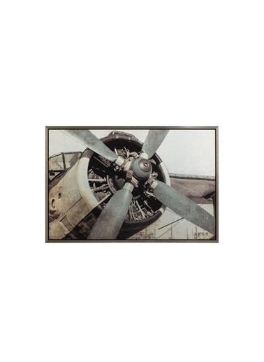 Warm Design Vintage Uçak Pervanesi Duvar Dekoru Renkli